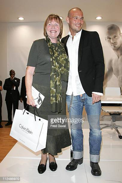 Freddie Ljungberg with a fan during Calvin Klein Underwear Launch with Freddie Ljungberg at House of Fraser in London Great Britain