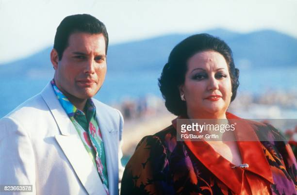 Freddie Mercury and Monserrat Caballe p[ose for a portrait on May 29, 1987 in Ibiza, Spain. 170612F1