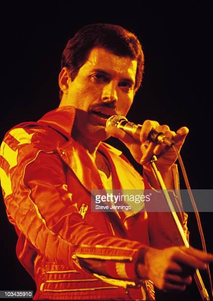 Freddie Mercury of Queen 1982 Tour