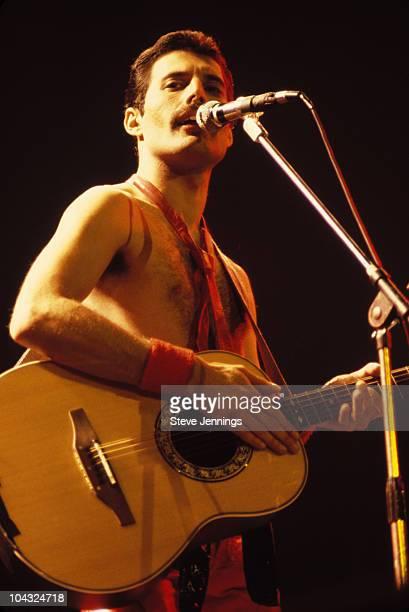 Freddie Mercury of Queen on Jazz Tour 1980