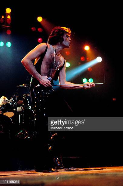 Freddie Mercury of Queen performs on stage New York November 1978