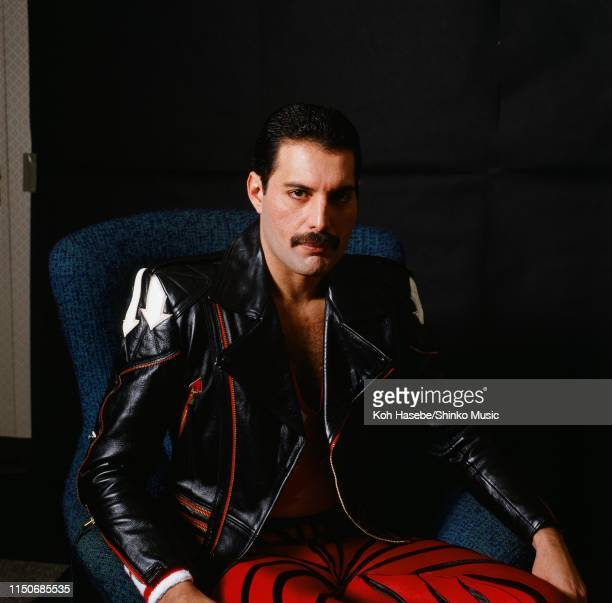 Freddie Mercury of Queen, portrait for Japanese music magazine 'Music Life', Tokyo, Japan , 1985.