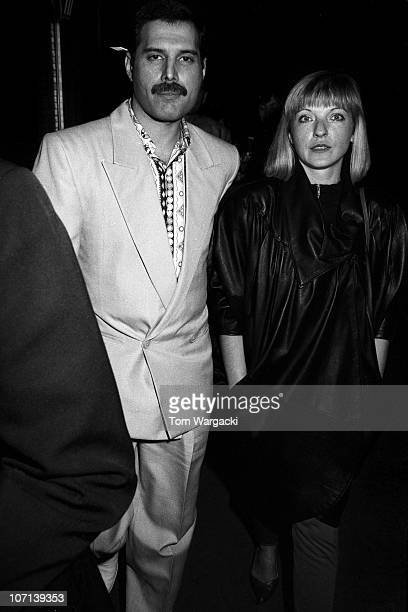 Freddie Mercury of Queen with girlfriend Mary Austin circa 1988 in London England