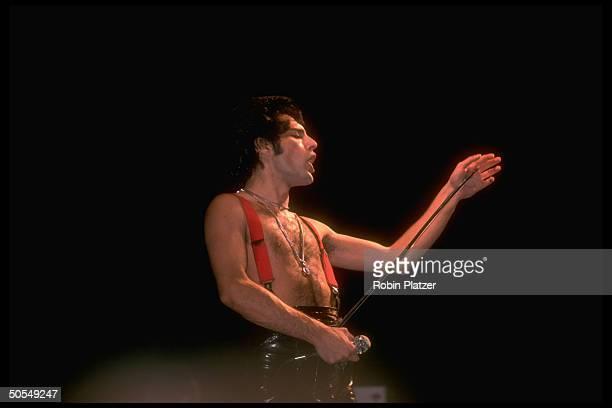 Freddie Mercury of the rock group Queen