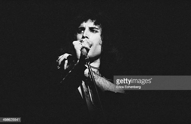 Freddie Mercury ofQueen performs on stage atBournemouth Winter GardensBournemouth United Kingdom 4th December 1975