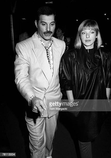Freddie Mercury with girlfriend Mary Austin on circa 1988 in London England