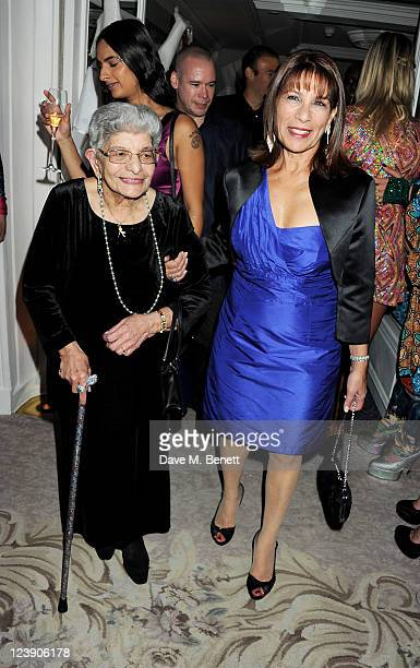 Freddie Mercury's mother Jer Bulsara and sister Kashmira Bulsara attend Freddie For A Day celebrating Freddie Mercury's 65th birthday in aid of The...