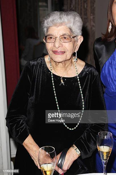 Freddie Mercury's mother Jer Bulsara attends the Freddie For A Day 65th birthday anniversary at The Savoy Hotel on September 5 2011 in London United...