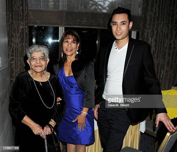 Freddie Mercury's mother Jer Bulsara sister Kashmira Bulsara and nephew Jamal Zook attend Freddie For A Day celebrating Freddie Mercury's 65th...