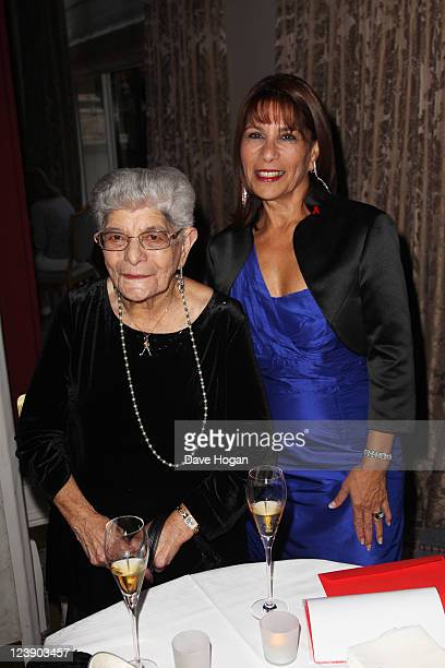 Freddie Muercury's sister Kashmira Bulsara and his mother Jer Bulsara attend the Freddie For A Day 65th birthday anniversary at The Savoy Hotel on...