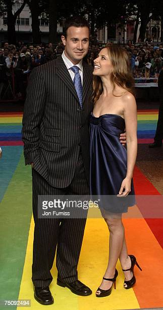 Freddie Prince Jnr and Sarah Michelle Gellar arrive at the World Premiiere of 'Hairspray' 5th July 2007 at the Odeon West End London Photo by Jon...