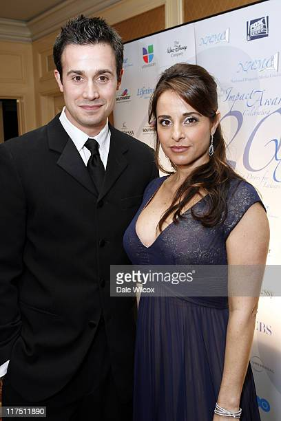 Freddie Prinze Jr and Jacqueline Obradors during The National Hispanic Media Coalition Image Awards United States