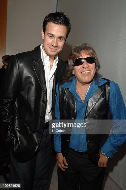 Freddie Prinze Jr and Jose Feliciano during AOL In2TV Launch Inside at Museum of Television in Los Angeles California United States