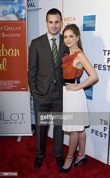Freddie Prinze Jr and Sarah Michelle Gellar at The Wall Street Journal Cinetic Media and OddLot Entertainment World Premiere of Suburban Girl at the...