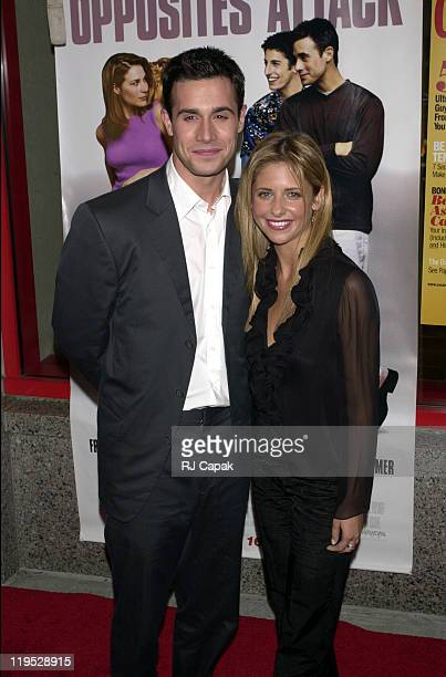 Freddie Prinze Jr and Sarah Michelle Gellar during Boys and Girls New York City Premiere at Kips Bay Theater in New York City New York United States