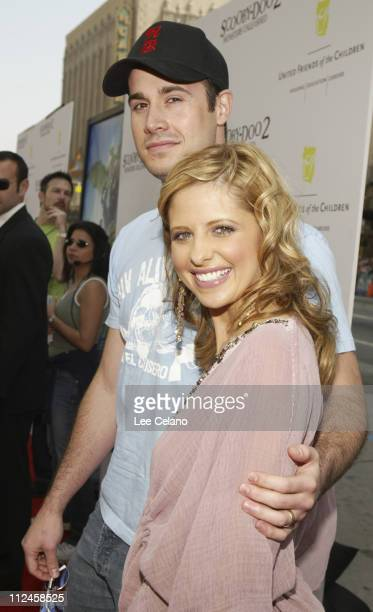 Freddie Prinze Jr and Sarah Michelle Gellar during 'Scooby Doo 2 Monsters Unleashed' Red Carpet Premiere at Grauman's Chinese in Hollywood California...