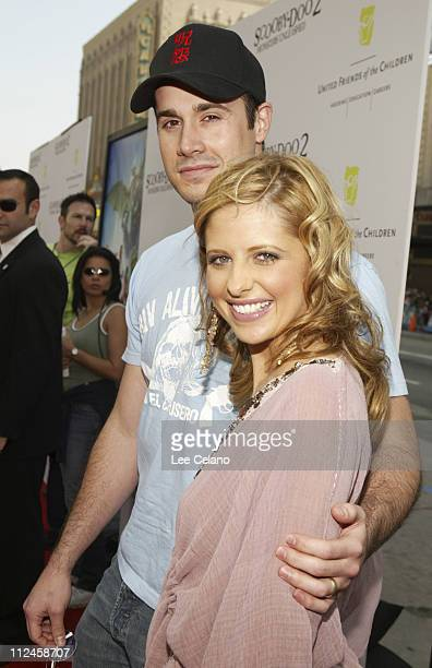 Freddie Prinze Jr and Sarah Michelle Gellar during Scooby Doo 2 Monsters Unleashed Red Carpet Premiere at Grauman's Chinese in Hollywood California...