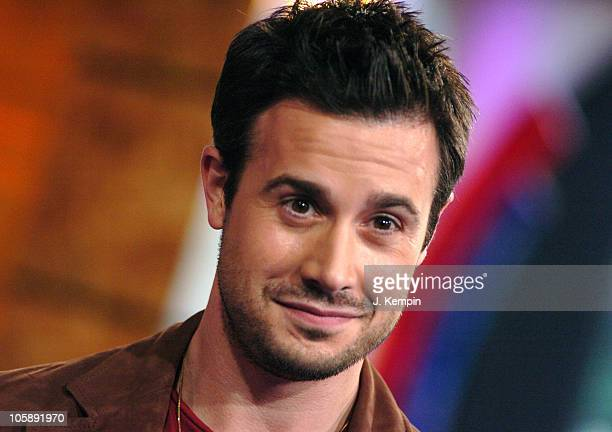 Freddie Prinze Jr during Freddie Prinze Jr and Dem Franchize Boyz Visit MTV's TRL February 6 2006 at MTV Studios in New York City New York United...