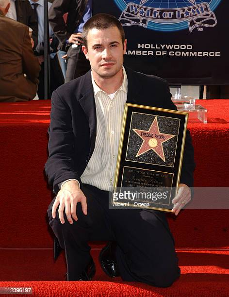 Freddie Prinze Jr during Freddie Prinze Posthumously Honored with a Star on the Hollywood Walk of Fame for His Achievements in Television at...