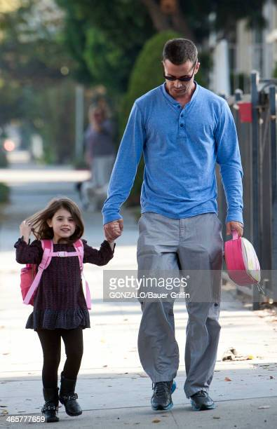Freddie Prinze Jr is seen with his daughter Charlotte Grace Prinze on January 29 2014 in Los Angeles California