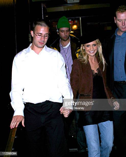 Freddie Prinze Jr Sarah Michelle Gellar during Sarah Michelle Gellar Hosts SNL AfterParty at Times Square in New York City New York United States