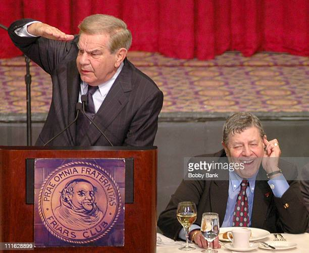 Freddie Roman and Jerry Lewis during Friars Club Roast Of Jerry Lewis - June 9, 2006 at New York Hilton in New York, New York, United States.