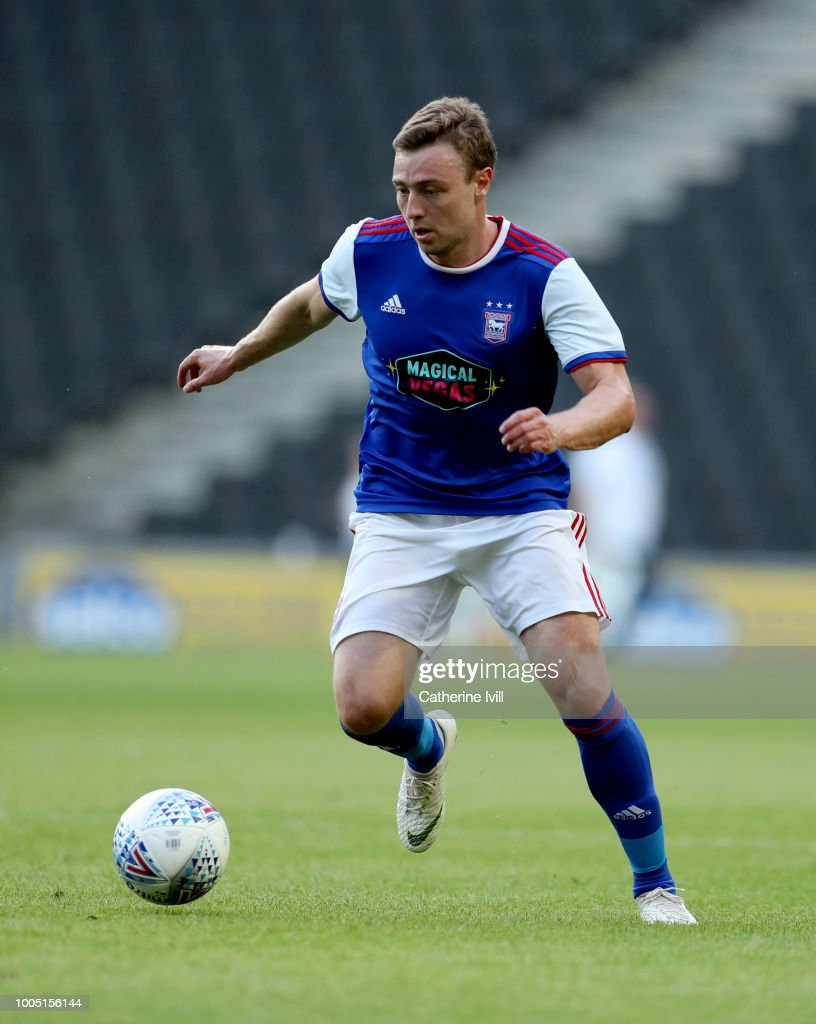 Freddie Sears of Ipswich Town during the Pre Season Friendly between Milton Keynes Dons and Ipswich Town at StadiumMK on July 24, 2018 in Milton Keynes, England.