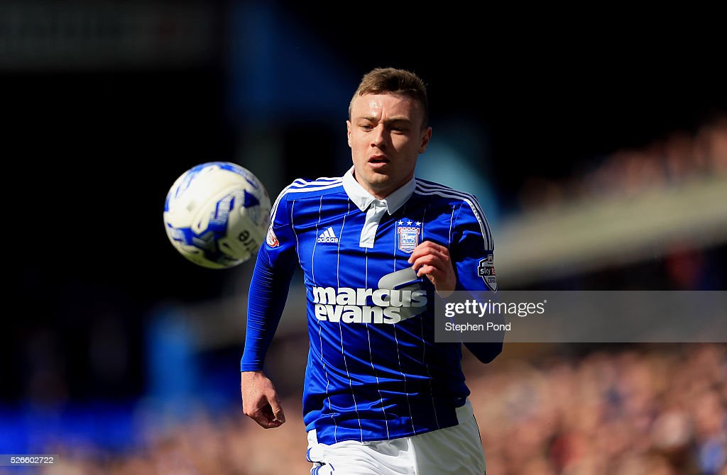 Freddie Sears of Ipswich Town during the Sky Bet Championship match between Ipswich Town and Milton Keynes Dons at Portman Road on April 30, 2016 in Ipswich, England.