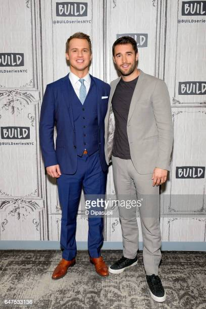 Freddie Stroma and Josh Bowman attend the Build Series to discuss 'Time After Time' at Build Studio on March 3 2017 in New York City