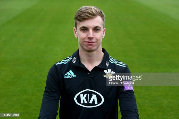 Freddie van den Bergh poses in the Royal London OneDay Cup kit during the Surrey CCC Photocall at The Kia Oval on April 4 2017 in London England