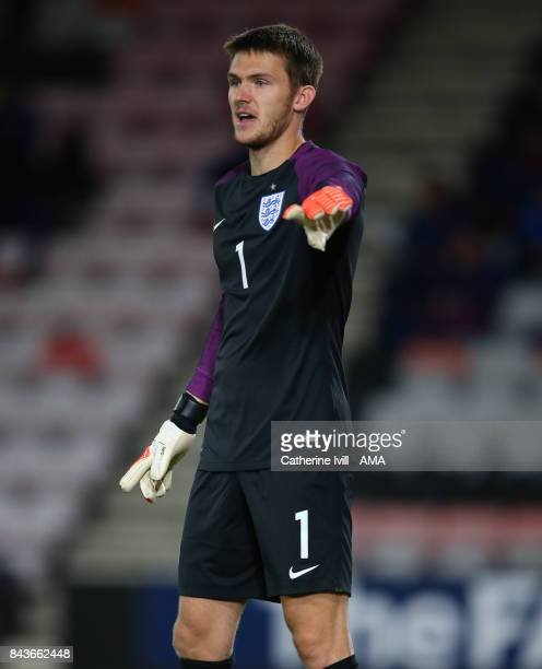 Freddie Woodman of England U21 during the UEFA Under 21 Championship Qualifier match between England and Latvia at Vitality Stadium on September 5...