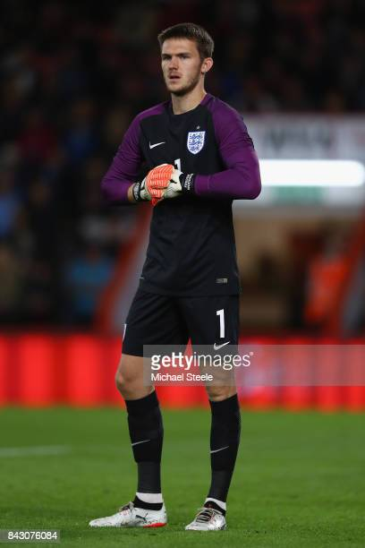 Freddie Woodman of England U21's during the UEFA Under 21 Championship Qualifier match between England and Latvia at the Vitality Stadium on...