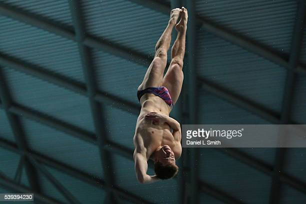 Freddie Woodward competes in the Men's 3m Preliminary during day two of the British Diving Championships 2016 at Ponds Forge on June 11 2016 in...
