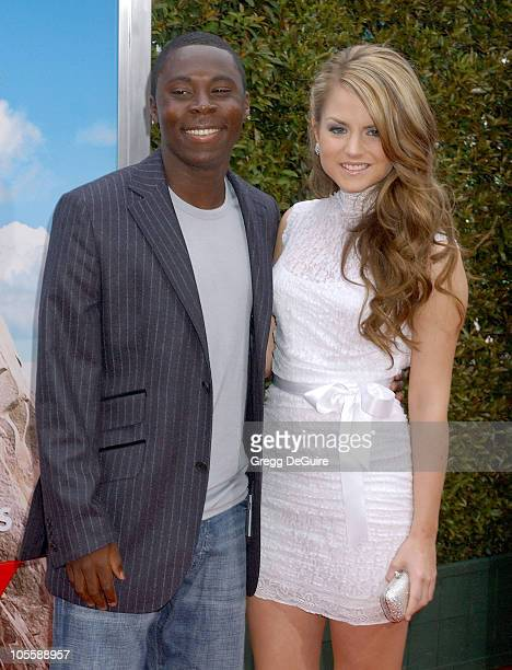 """Freddy Adu and Joanna """"JoJo"""" Levesque during """"RV"""" Los Angeles Premiere - Arrivals at Mann Village Theatre in Westwood, California, United States."""