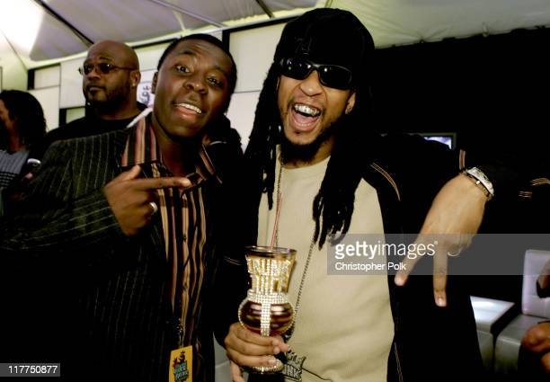 """Freddy Adu and Lil' Jon during Spike TV's 2nd Annual """"Video Game Awards 2004"""" - Red Carpet at Barker Hangar in Santa Monica, California, United..."""