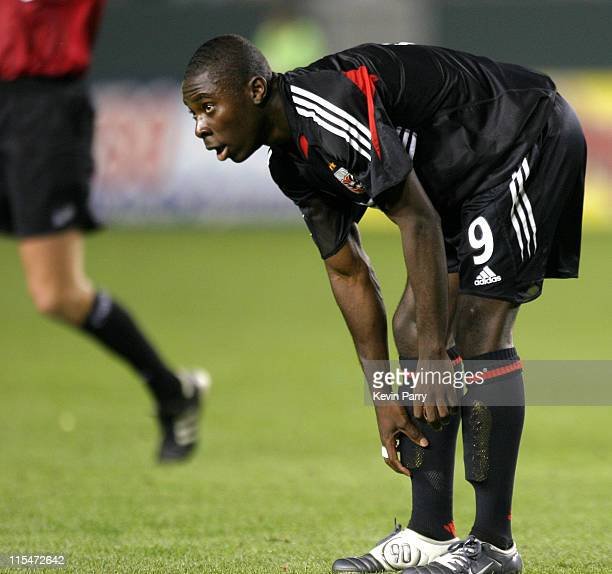 Freddy Adu in action. D.C. United tied the Galaxy 1-1 during the match at the Home Depot Center in Carson, California on April 10, 2004.