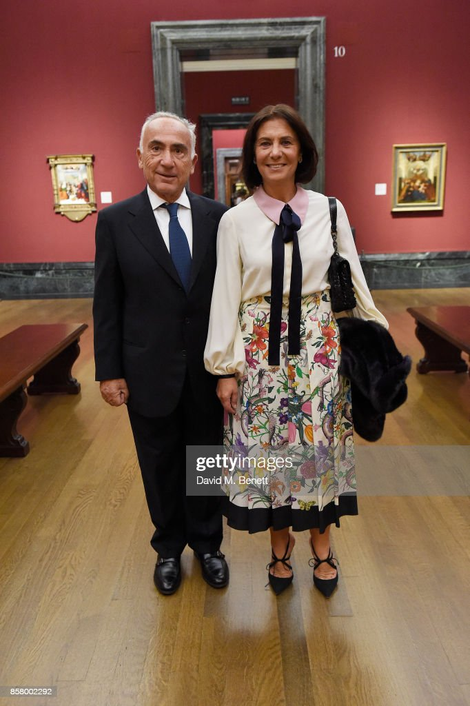 Freddy and Muriel Salem attends 'Unexpected View' co-hosted by the National Gallery and Galerie Thaddaeus Ropac on the occasion of Frieze 2017 at The National Gallery on October 5, 2017 in London, England.