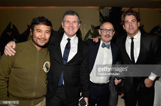 Freddy Anzures Patrick Moore Joaquin Navarro and Carlos Betancourt attends The Andy Warhol Museum's Annual NYC Dinner at Indochine on November 12...