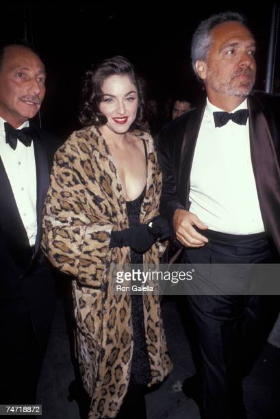 Freddy Demann and Madonna at the New York Public Library in New York City, New York