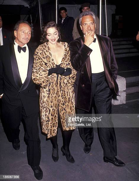 Freddy Demann and singer Madonna attend the Wedding Reception for Allen Grubman and Deborah Haimoff on October12, 1991 at the New York Public Library...