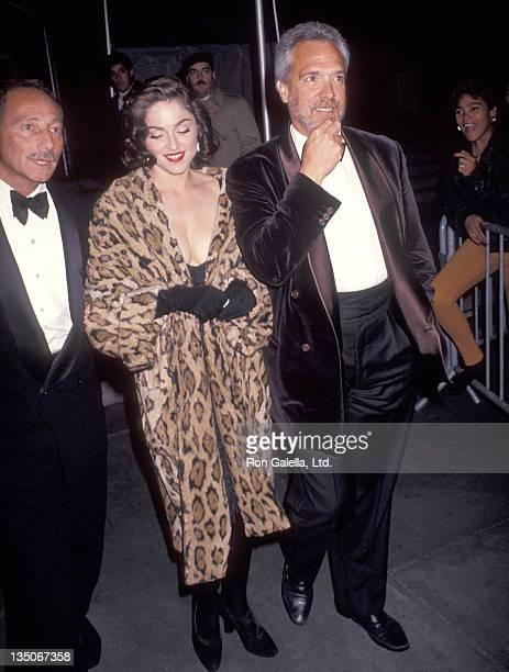 Freddy Demann and singer Madonna attend the Wedding Reception for Allen Grubman and Deborah Haimoff on October12 1991 at the New York Public Library...