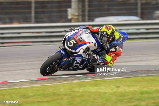Freddy Foray of FCC TSR Honda France in action during qualifying session of the FIM EWC - The Sepang 8 hours Endurance Race on December 12 held at...