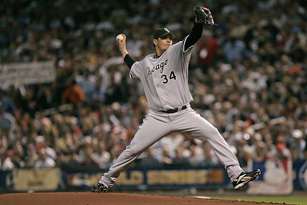 Freddy Garcia Of The Chicago White Sox During Game 4 World Series Against Houston Astros At Minute Maid Park In Texas On October 26