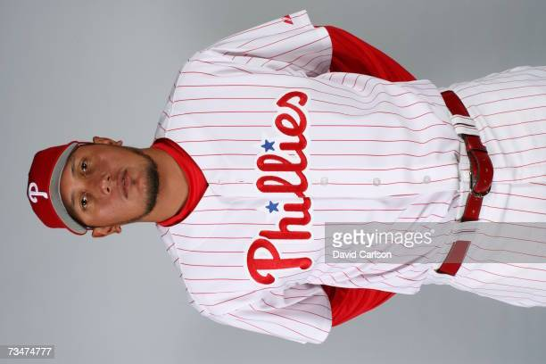 Freddy Garcia of the Philadelphia Phillies poses during photo day at Bright House Networks Field on February 24 2007 in Clearwater Florida