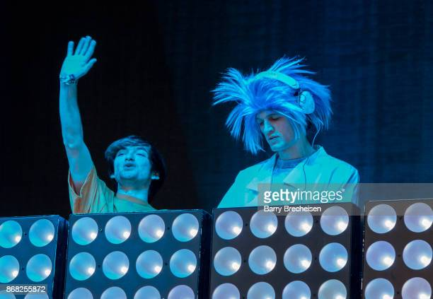 Freddy Kennett and Robby Hauldren of Louis the Child perform during Voodoo Music Arts Experience at City Park on October 29 2017 in New Orleans...