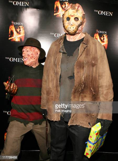 'Freddy Krueger' and 'Jason' during 'The Omen' DVD Release Party October 12 2006 in Los Angeles California United States