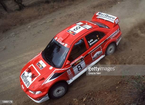 Freddy Loix driving the Mitsubishi Marlboro during the World Rally Championships in Cyprus Germano Gritti / Grazia Neri Mandatory Credit Grazia...