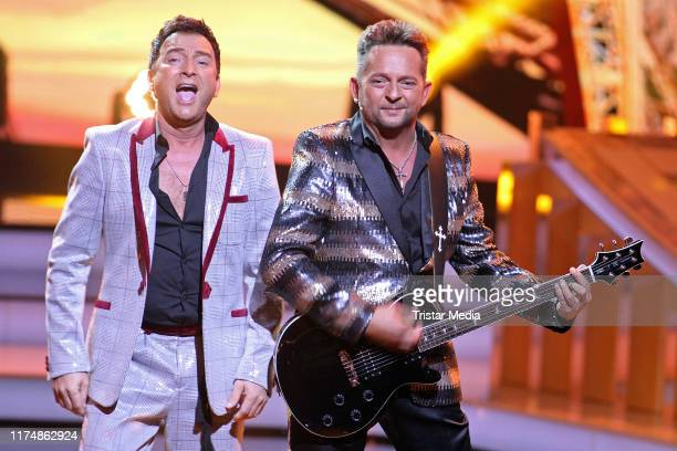 """Freddy Maerz and Martin Hein of the duo Fantasy at the charity gala """"Willkommen bei Carmen Nebel"""" at TUI Arena on September 14, 2019 in Hanover,..."""