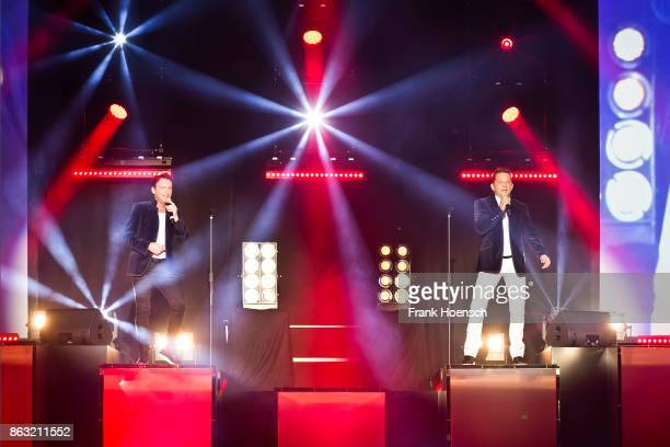 Freddy Maerz and Martin Marcell of the German band Fantasy perform live on stage during a concert at the Tempodrom on October 19 2017 in Berlin...