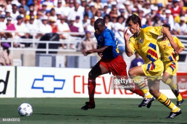Freddy Rincon / Daniel Prodan Roumanie / Colombie Coupe du Monde 1994 Photo Alain Gadoffre / Icon Sport